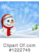 Snowman Clipart #1222749 by AtStockIllustration