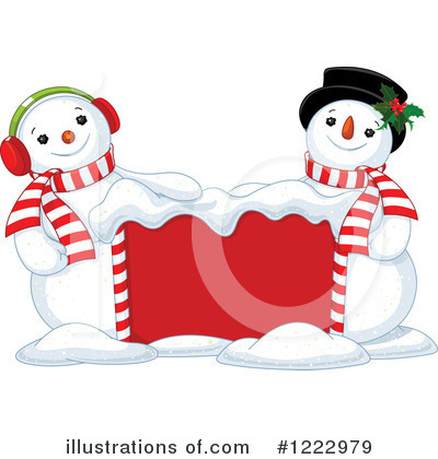 Royalty-Free (RF) Snowman Clipart Illustration by Pushkin - Stock Sample #1222979
