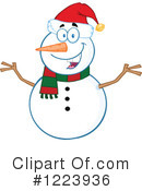 Snowman Clipart #1223936 by Hit Toon