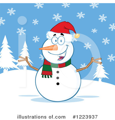 Snowman Clipart #1223937 by Hit Toon