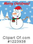 Snowman Clipart #1223938 by Hit Toon