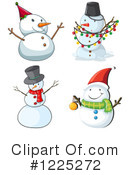 Snowman Clipart #1225272 by Graphics RF