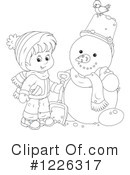Snowman Clipart #1226317 by Alex Bannykh