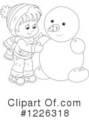Snowman Clipart #1226318 by Alex Bannykh