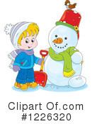 Snowman Clipart #1226320 by Alex Bannykh
