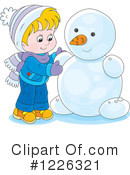Snowman Clipart #1226321 by Alex Bannykh