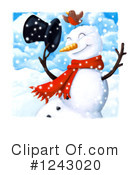 Snowman Clipart #1243020 by lineartestpilot