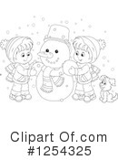 Snowman Clipart #1254325 by Alex Bannykh