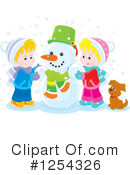 Snowman Clipart #1254326 by Alex Bannykh