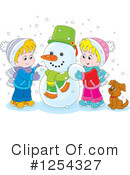 Royalty-Free (RF) Snowman Clipart Illustration #1254327