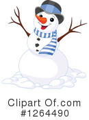 Royalty-Free (RF) Snowman Clipart Illustration #1264490