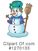 Royalty-Free (RF) Snowman Clipart Illustration #1270133