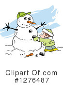 Royalty-Free (RF) Snowman Clipart Illustration #1276487