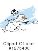 Snowman Clipart #1276488 by Johnny Sajem