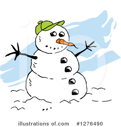 Snowman Clipart #1276490 by Johnny Sajem