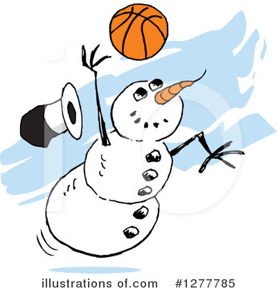 Snowman Clipart #1277785 by Johnny Sajem