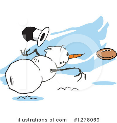 Snowman Clipart #1278069 by Johnny Sajem