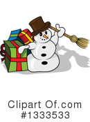 Royalty-Free (RF) Snowman Clipart Illustration #1333533