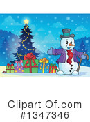 Royalty-Free (RF) Snowman Clipart Illustration #1347346