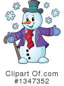 Royalty-Free (RF) Snowman Clipart Illustration #1347352