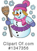 Royalty-Free (RF) Snowman Clipart Illustration #1347356