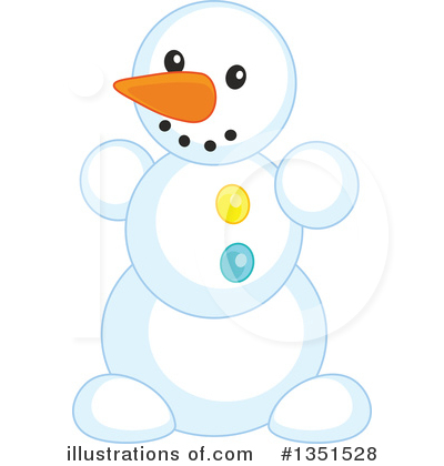 Snowman Clipart #1351528 by Alex Bannykh