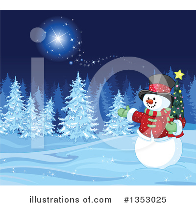 Christmas Tree Clipart #1353025 by Pushkin