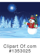 Royalty-Free (RF) Snowman Clipart Illustration #1353025