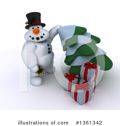 Royalty-Free (RF) Snowman Clipart Illustration by KJ Pargeter - Stock Sample #1361342