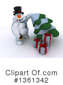 Royalty-Free (RF) Snowman Clipart Illustration #1361342