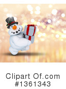 Royalty-Free (RF) Snowman Clipart Illustration #1361343
