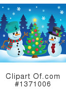 Snowman Clipart #1371006 by visekart