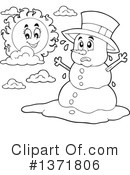 Snowman Clipart #1371806 by visekart