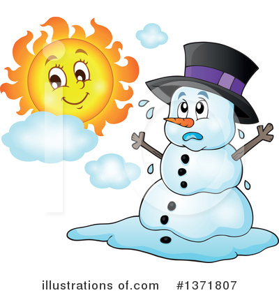 Royalty-Free (RF) Snowman Clipart Illustration by visekart - Stock Sample #1371807
