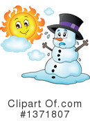 Royalty-Free (RF) Snowman Clipart Illustration #1371807