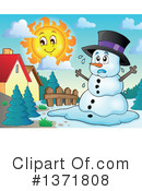 Snowman Clipart #1371808 by visekart