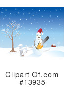 Royalty-Free (RF) snowman Clipart Illustration #13935