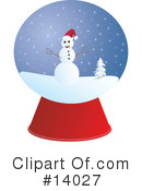 Royalty-Free (RF) snowman Clipart Illustration #14027