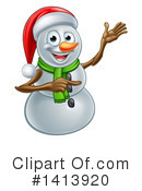 Snowman Clipart #1413920 by AtStockIllustration