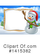 Royalty-Free (RF) Snowman Clipart Illustration #1415382