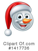 Royalty-Free (RF) Snowman Clipart Illustration #1417736
