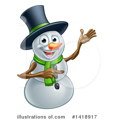 Royalty-Free (RF) Snowman Clipart Illustration by AtStockIllustration - Stock Sample #1418917