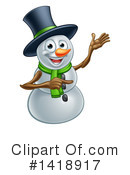 Royalty-Free (RF) Snowman Clipart Illustration #1418917