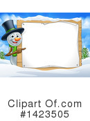 Royalty-Free (RF) Snowman Clipart Illustration #1423505