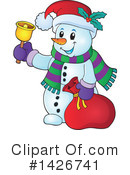 Royalty-Free (RF) Snowman Clipart Illustration #1426741