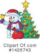 Royalty-Free (RF) Snowman Clipart Illustration #1426743