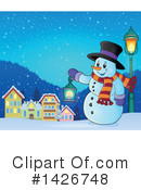 Snowman Clipart #1426748 by visekart