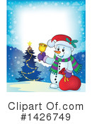 Snowman Clipart #1426749 by visekart