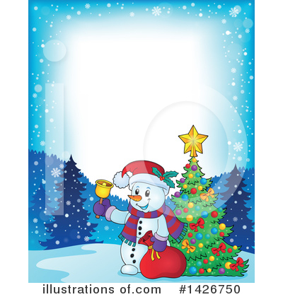 Royalty-Free (RF) Snowman Clipart Illustration by visekart - Stock Sample #1426750