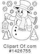 Snowman Clipart #1426755 by visekart